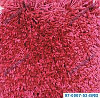 Ворсистый ковер Муни shaggy, однотонный, цвет красный
