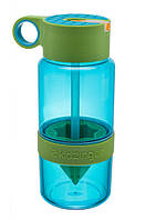 Бутылка для воды с поилкой для самодельного лимонада Зеленая