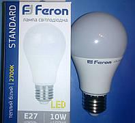 Светодиодная лампа типа А60 Feron LB710 10W 2700K  для общего и декоративного освещения
