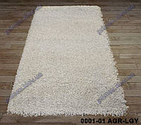 Ворсистый ковер Меридиан shaggy, однотонный серый