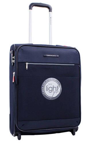 Тканевый малый 2-х колесный чемодан 39 л. Roncato Miglia 406803/23 темно синий