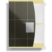 Зеркальный шкаф МИКОЛА-М Витрина 55 (желтый)