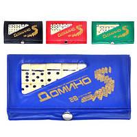 Настольная игра Домино M 0002 карманное, в чехле KHT