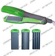 Щипцы для волос, Гофре+выпрямитель Maestro MR 249, 3 насадки, керамическое покрытие