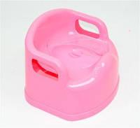 Горшок-стульчик детский с крышкой розовый