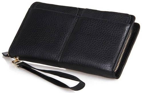Мужской деловой кожаный клатч S.J.D. 8069A черный