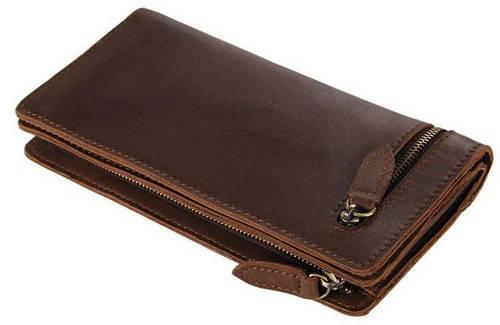 Винтажный мужской кожаный клатч S.J.D. 8051C