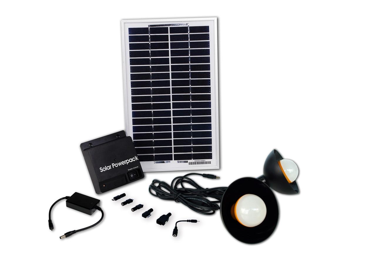 Комплект освещения на солнечных панелях BSS-00508