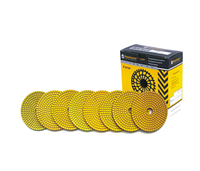 Комплект полировальных кругов (Черепашки) Baumesser Standart (8 штук: 30, 60, 120, 220, 400, 800, 1500, 3000)