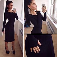 """Модное стильное платье c удлиненным """"рукавом - перчаткой"""" в разных цветах. Артикул SM41"""