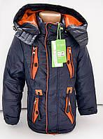 Удлиненная весенняя детская куртка на мальчика