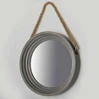 Оригинальное зеркало на стену (диаметр 40 см) под старину