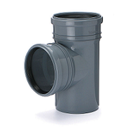 Тройник ПВХ внутренней канализации Armakan 110x110/90°