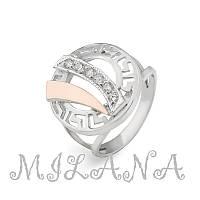 Серебряное кольцо с золотой накладкой Арт.018