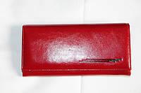 Кожаный женский кошелек красного цвета Dream