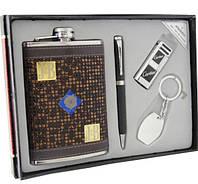 Набор на подарок. Фляга Jim Beam, кремниевая зажигалка, ручка, брелок.