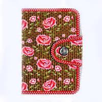 Визитница с цветочным принтом