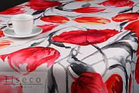 Скатерть с тефлоновым покрытием 220*155 тюльпаны