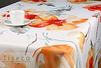 Скатерть на обеденный стол тефлоновая   с цветочным принтом   220*155