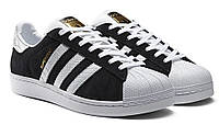 Кроссовки Adidas Superstar Black/White 2 - 1190