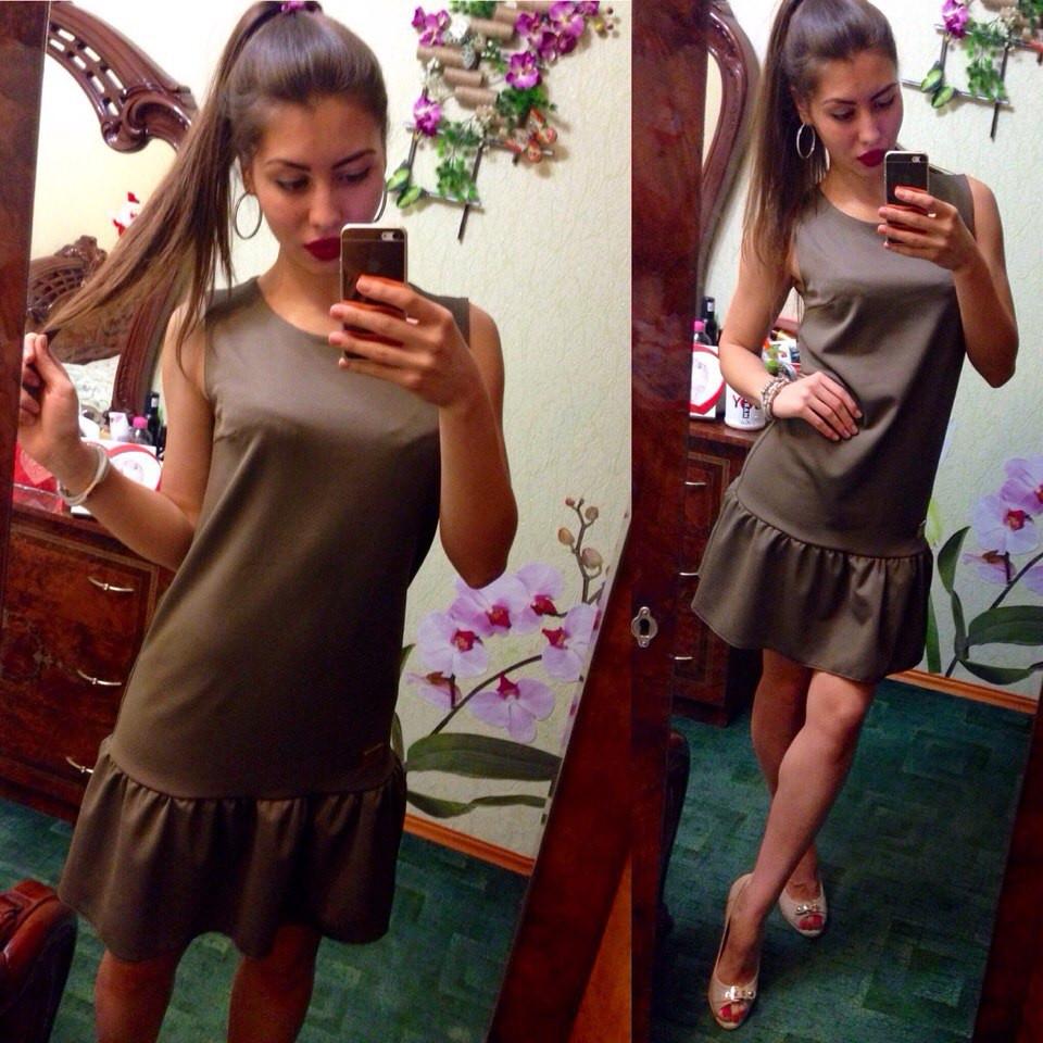 Женское летнее трикотажное платье