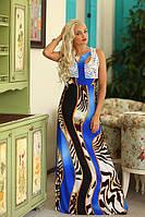 Яркое макси платье  Агния от Медини, змеиный принт