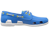 Мужские кроксы Crocs голубые с белым