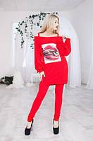 Стильный костюм: узкие брюки с туникой