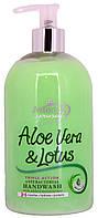 Мыло жидкое Astonish Aloe Vera&Lotus Antibacterial Handwash 500г.