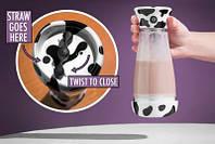Чашка-миксер для молочных коктейлей Skinny Moo Stirring Mug, кружка миксер