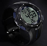 Часы мужские Q@Q  Lux-sport 10Bar  можно нырять, таймер, 5 будильников