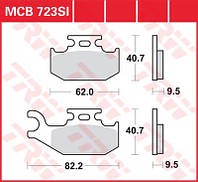Для квадроциклов тормозные колодки TRW / Lucas MCB723SI
