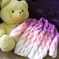 Кардиган Lalo (Лало) коса детский фиолетово-розовый