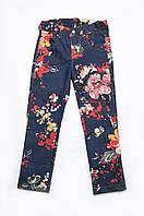 Детские джинсы с цветочным принтом р.104-128см
