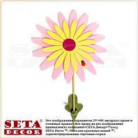 """Весенний декор розовый цветок """"Ромашка"""" на палочке для украшения помещений"""