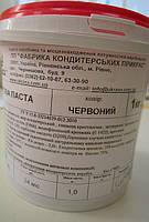 Мастика для торта сахарная (Украина) красная1кг.(код 00579)