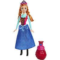 Дисней кукла Анна Холодное Сердце в платье, меняющем цвет. Оригинал Mattel