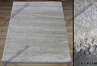 Высоковорсный ковер Супершайн shaggy, однотонный, кремовый