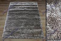 Высоковорсный ковер Супершайн shaggy, однотонный, темно бежевый