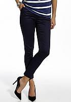 Женские летние брюки темно-синего цвета. Модель 210103 Enny, весна-лето 2016.
