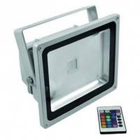 Светодиодный прожектор LL-181 1LED 20W RGB (+пульт) 230V  IP45