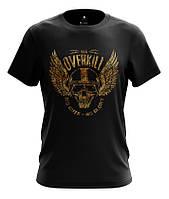 Мужская футболка OVERKILL, рисунок - цифровой принт