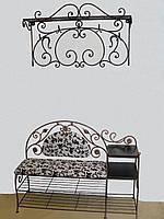 Набор кованой мебели в прихожую  -  01