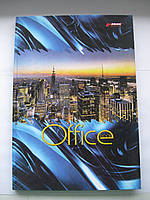 """Тетрадь А4 в твердом переплете 96л. """"Office book"""" Мицар, линия"""