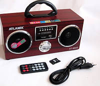 Акустическая колонка  Atlanfa AT-8805, MP3/SD/USB/FM/, red, фото 1