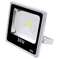 Светодиодный прожектор LL-833 1LED 30W белый 6400K 230V (220*225*55mm) Серебро  IP 66