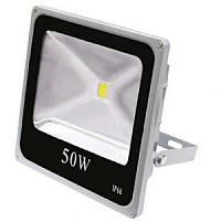 Светодиодный прожектор LL-835 1LED 50W белый 6400K 230V (282*272*63mm) Серебро   IP 66