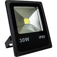 Светодиодный прожектор LL-838 1LED 30W белый 6400K 230V (225*185*48mm) Черный  IP 65