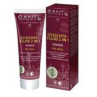 SANTE БИО-Лосьон-флюид после бритья, для мужчин, увлажняющий, для чувствительной кожи Алоэ, 50мл