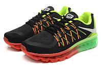 Мужские кроссовки Nike Air Max 2015  black-red-green